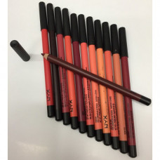 Карандаши NYX для губ цветные 12 шт